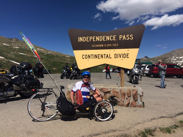 2 Wesley and his VTX at Independence Pass in June