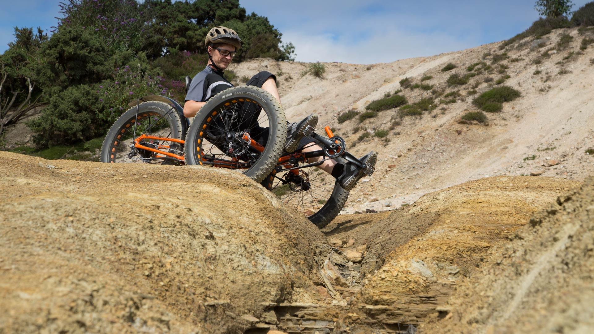 Ice Full Fat Off Road Expedition Tough Recumbent Folding Trike Bike